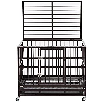 Amazon Com Paney 37 Quot Heavy Duty Metal Large Dog Crate