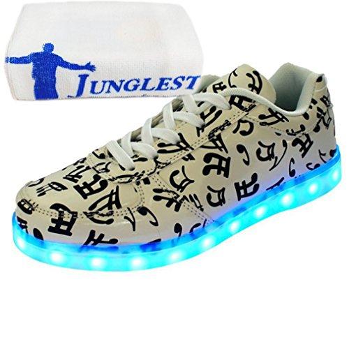 (Present:kleines Handtuch)JUNGLEST® [ Led Schuhe ] 7 Farbe USB Aufladen LED Leuchtend Sport Schuhe Sneaker für Unisex-Erwachsene initial