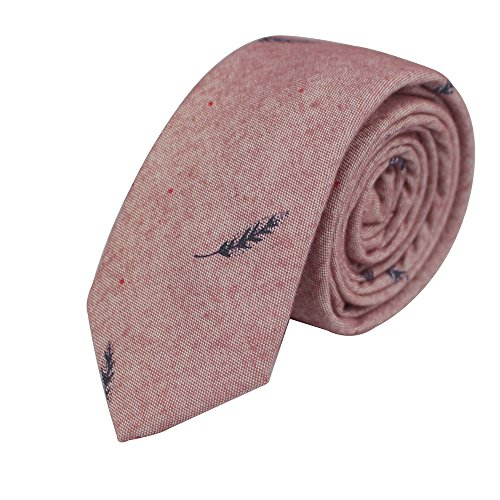 Fashion Ties for Men Cotton Narrow Tie Skinny Cravat Neckties for Winter Men Party Skinny Tie Casual Printed Neck Ties Neckwear (18308)