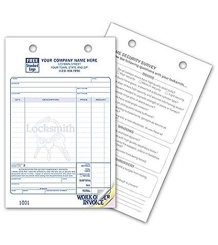Amazon Com Locksmith Multi Purpose Register Forms Classic Design