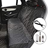 Cheap Car Seat Cover for Dog Pets or Kids Waterproof Nonslip Bench Seat Cover Compatible for Middle Seat Belt and Armrest Fits Most Cars, Trucks, SUVs, with Dog Safety Belt & Hair Remover Brush Roller Bonus
