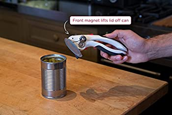 Zyliss Lock N' Lift Can Opener With Lid Lifter Magnet, White 11
