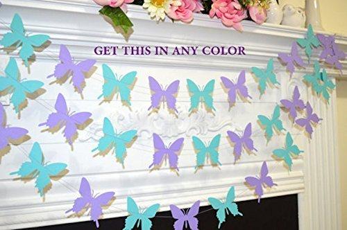 Amazon.com: Butterfly garland, wedding garland teal lilac purple ...