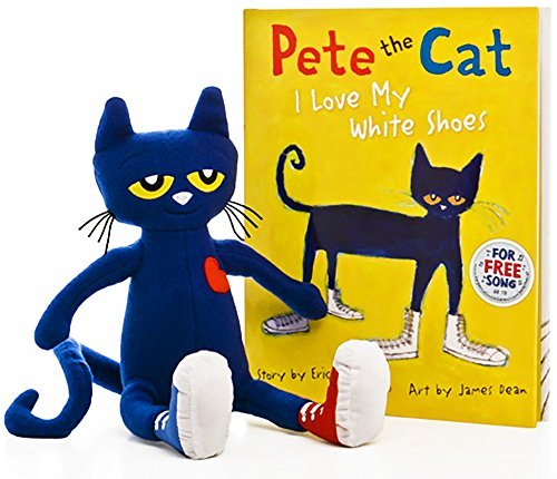 Pete the Cat: I Love My White Shoes Hardcover Book & 14.5