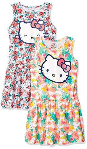 Hello Kitty Big Girls 2 Pack Embellished Dresses,