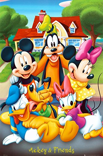 Mickey Mouse & Friends Poster 24 x 36in