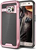 E LV Galaxy S7 Case, Galaxy S7 - Hybrid [Scratch/Dust Proof] Armor Defender Slim Shock-Absorption Bumper Case for Samsung Galaxy S7 - [Black/Rose Gold]