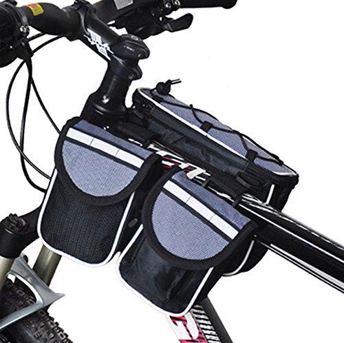 Cycling Bike Fahrradrahmen Pannier vorne Rohr Tasche Fall für Handy, Grau