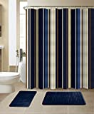 All American Collection New 15 Piece Bathroom Mat Set Memory Foam with...
