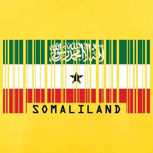 Somaliland / Republik Somaliland Barcode Flagge - Herren T-Shirt - Gelb - XL