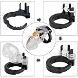 Transparent Plasitc Cock Handcuffs Cage Chastity Cage Chastity Device for Male Penis Exercise Restraint Men bondageromance Fetish (with bag)
