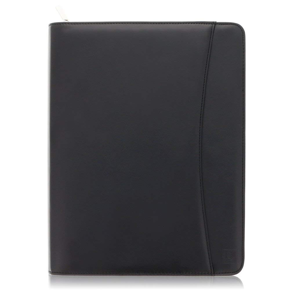 "Padfolio portadocumenti con cerniera in pelle - Portadocumenti in similpelle tipo nappa 10.5"" con custodia per tablet e blocco note A4 in confezione regalo da 10.5 di Lautus Designs Sigel Enterprises Ltd. SLD-P1UK"