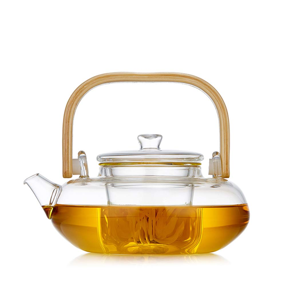 CSQ Coffee Cup Teapot, Home Living Room Glass Tea Set Meeting Room Office Teapot Capacity: 800ml Afternoon Tea (Color : A)