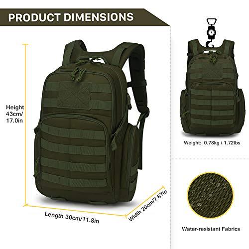 Mardingtop 25/40L Militaire Armée Sac à dos tactique multifonctionnelles rangement Adulte Sacs à Dos Trekking/Randonnée… 3