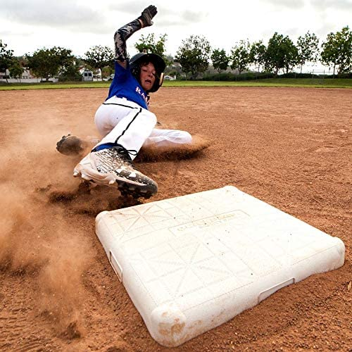 Baseball and Softball 5 Pcs Base Set Rubber Field Bases for Kids /& Adults White