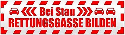 Kiwistar Rettungsgasse Stau Gestreift Magnetschild Schild Magnetisch Auto