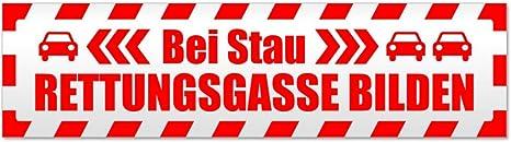 Kiwistar Bitte Rettungsgasse bilden Magnetschild Schild magnetisch