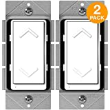 ENERWAVE ZW500DM-PLUS Z-Wave Plus Dimmer, Smart Dimmer Switch for Z-Wave Home Automation, Z-Wave Dimmer Switch with Smart Meter Energy Monitor, Neutral Wire Required, 2-Pack