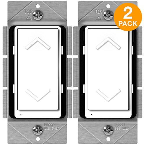 ENERWAVE Z-Wave Plus Dimmer, Smart Dimmer Switch for Z-Wave Home Automation, Z-Wave Dimmer Switch with Smart Meter Energy Monitor, Neutral Wire Required, ZW500DM-PLUS, 2-Pack