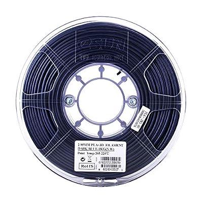 eSUN 2.85mm Dark Blue PLA PRO (PLA+) 3D Printer Filament 1KG Spool (2.2lbs), Dark Blue