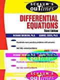 Schaum's Outline of Differential Equations, 3rd edition (Schaum's Outline Series)