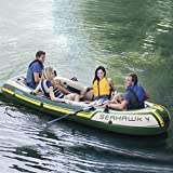 Intex Seahawk 4, 4-Person Inflatable Boat Set with