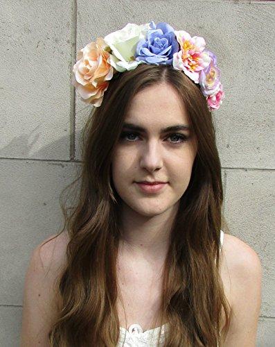 Grand Pêche Lilas Blanc Rose Fleur Bandeau cheveux Couronne Guirlande Festival qualité * * * * * * * * exclusivement vendu par–Beauté * * * * * * * *