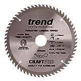 Trend CSB/19060TC Craft Saw Blade 190mm x 60 Teeth x 30 x 1.55 for DCS575, Grey/Black