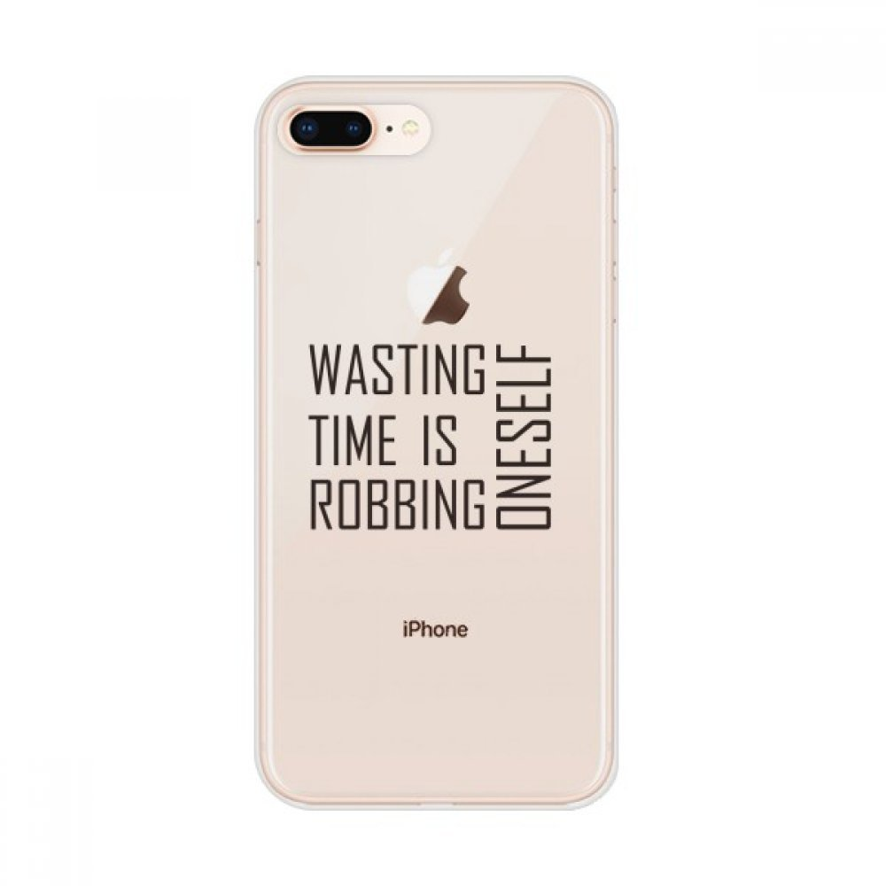 Amazon com: Quote Wasting Time is Robbing Oneself Apple