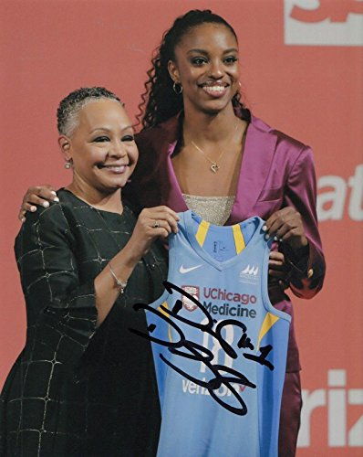 DIAMOND DESHIELDS signed (CHICAGO SKY) basketball 8X10 *WNBA* photo W/COA - Autographed NFL Photos
