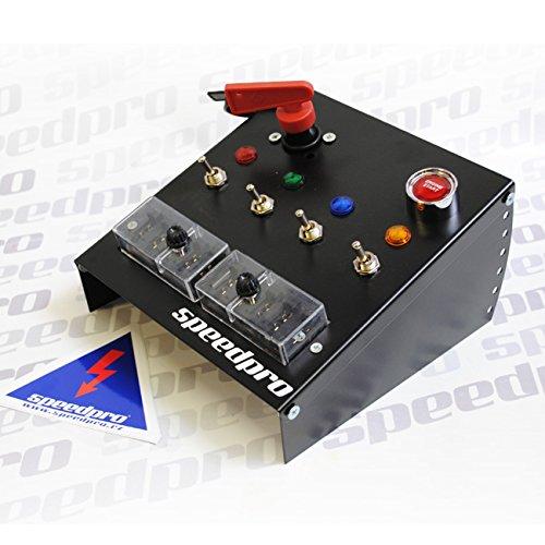 SpeedPro S2000, pannello di controllo, con pulsante di avviamento del motore, con interruttore di controllo, interruttore dell' isolatore, scatola dei fusibili, per auto da corsa