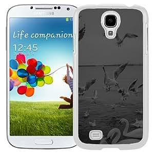 New Beautiful Custom Designed Cover Case For Samsung Galaxy S4 I9500 i337 M919 i545 r970 l720 With Seagull Sea Beach Port Black Nature Animal (2) Phone Case