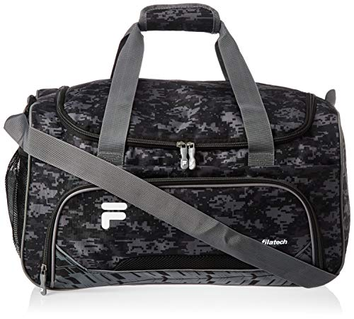 Fila Source Sm Travel Gym Sport Duffel Bag, Black Digi Camo, One Size