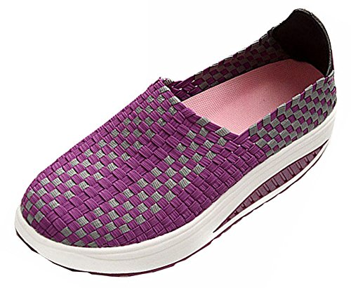 Wedges Shoes Swing Sport for Summer Women's Sneakers Women Shoes Purple Running Sneakers Fashion BwWdvpxS