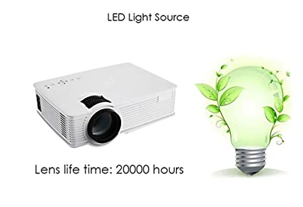 JIEJIEZ WiFi Portátil LED Proyector HD Soporte Full HD 1080p Vídeo ...