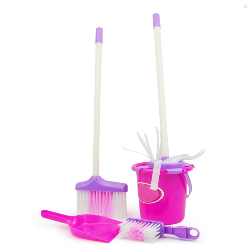 Little Helper ! Kids Cleaning Set for Toddlers,Includes 5 Cleaning Toys Broom & Mop,Brush,Dust Pan,Water Bucket Gift Set Bundle by C360 (Image #3)