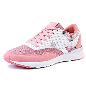 EIGHTKM Women Sneakers Everyday Wear Shoes With Pompoms Pink-7