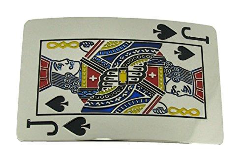Las Vegas US Lucky Jack of Spades Pokers Belt Buckle Western Hip Rock Hard Metal