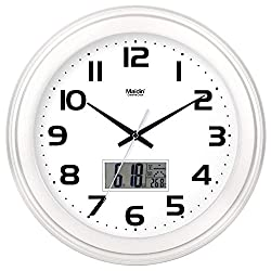 GuoEY Non-ticking Silent Modern Matt Wall Clock DIY for Living Room Bedrooms Office Kitchens 14 inches