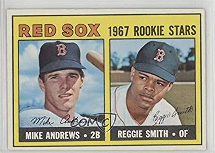 Amazoncom Mike Andrews Reggie Smith Baseball Card 1967 Topps