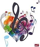1art1 63668 Musiknoten - Die Farben Der Musik Wand-Tattoo Aufkleber Poster-Sticker 50 x 40 cm