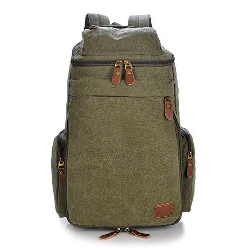 Meoaeo Die Neuen Männer An Der Schulter Tasche Großer Kapazität Reisetasche Tide Rucksack Army green ZtwWEyK