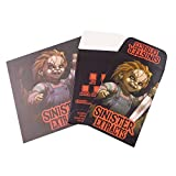 25 Sinister Extracts Chucky Shatter Labels Coin Strain Envelopes + 25 Parchment Paper Sheets #082