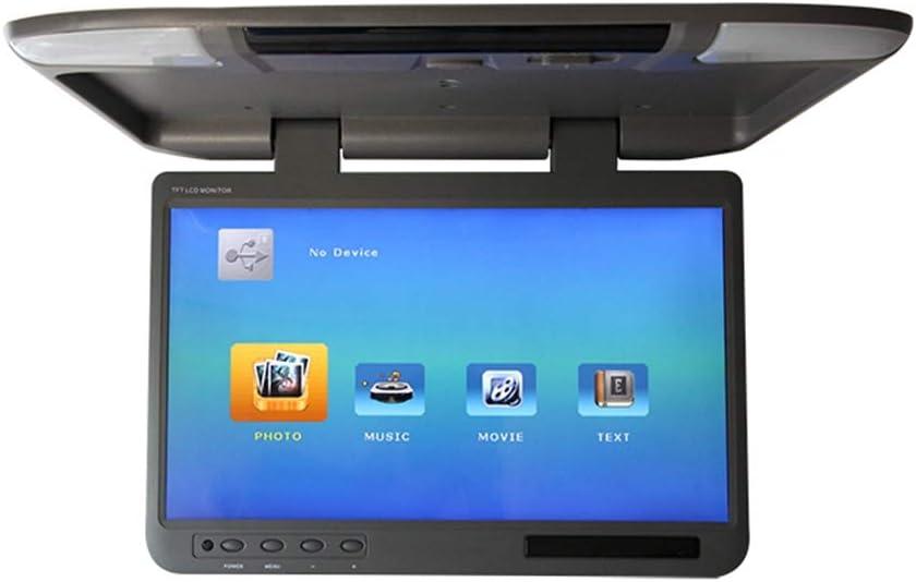 Moniteur de voiture basculant vers le bas lecteur MP5 1080P HD TFT LCD pour voiture SD MP3 MP4 LED avec transmetteur FM USB,Beige moniteur de montage sur toit ultra mince de 22 pouces