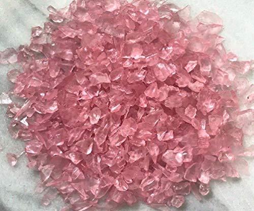 Danike Decor Miniature Fairy Garden Terrarium Lt. Pink Glass Gems Crushed Decorative Chips