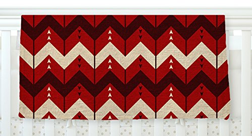 KESS InHouse Nick Atkinson ''Chevron Dance Red'' Fleece Baby Blanket, 40'' x 30'' by Kess InHouse