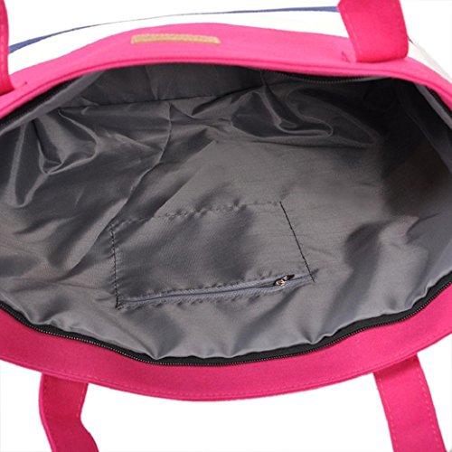 Mode vif toile Rose bandoulière féminine Fami Stripe sac à dw7Fgq8