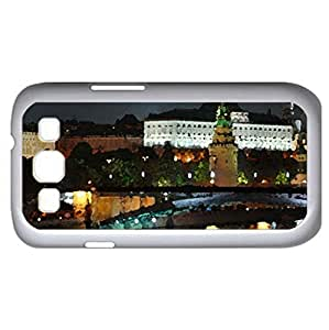 Moscow Night Lights (Skyscrapers Series) Watercolor style - Case Cover For Samsung Galaxy S3 i9300 (White)