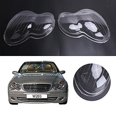 General Mega Headlight Lens Plastic Shell Cover For Mercedes Benz W203 C-Class C230 C280 C350 2001-2007 Polycarbonate