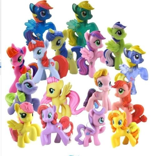 [10PCS / Set Colourful My Little Pony PVC Action Figures Toy Doll Desk Decoration] (Female Tv Characters Costumes)